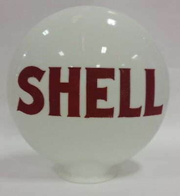 Reproduction Shell One Piece Etched Gas Pump Globe