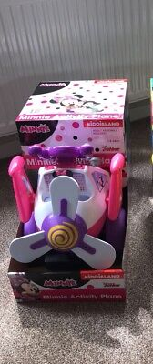 Disney Minnie Mouse Plane Ride-On Toy. Interactive. Lights, Push Button  RRP £84
