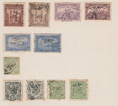 INDIA COLLECTION Early Issues Postmarks USED some tone etc, as per scan #