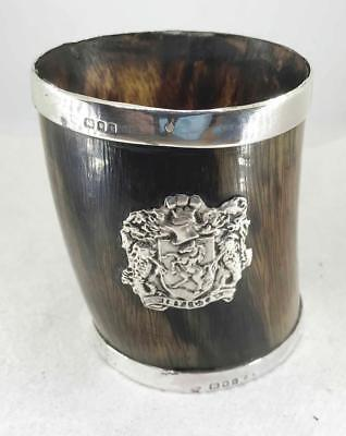 English Rimmed Hallmarked London Horn Cup