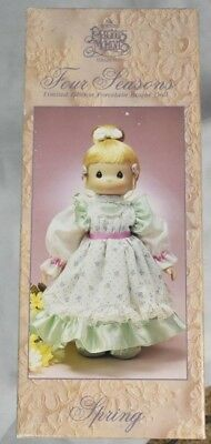"""Precious Moments Four Seasons Limited Edition Porcelain Bisque Doll """"Spring"""""""