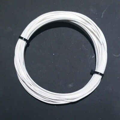 20 AWG Mil-Spec Wire (PTFE)  Stranded Silver Plated Copper, White 25 ft