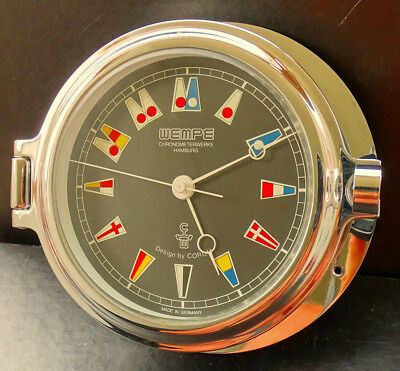 Wempe by Corum Regatta Design Marinen Schiffsuhr Bullaugen Chrom SW170001