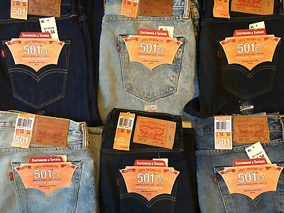 Levi's Men's 501 Original Fit Jeans Straight Leg Button Fly ~NWT (New W/ Tags)~
