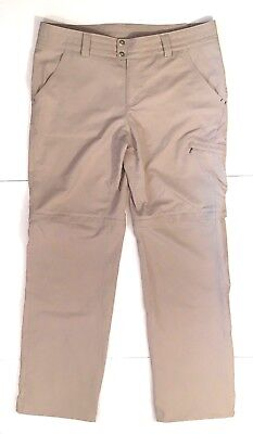 Columbia Titanium Womens Convertible Pants 12 Beige Shorts Omni Shade Hike