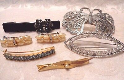 Mixed Lot of Barrettes Some Vintage