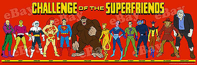 EXTRA LARGE! SUPER FRIENDS Legion of Doom Panoramic Photo Print HANNA BARBERA