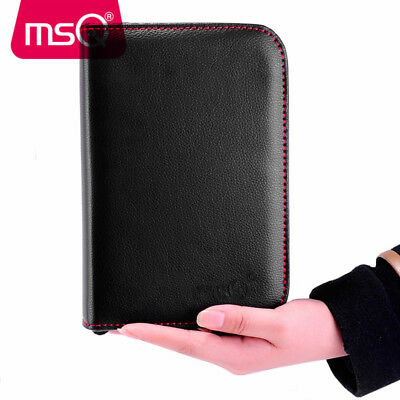 MSQ Black Professional Makeup Brushes Pouch Cosmetic Tool PU Leather Holder Case