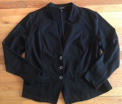 Torrid Black Cotton Blend Casual Blazer Suit Jacket Plus Size 2 (18/20)