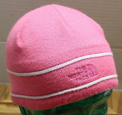 b0018e3aa97 Youth Girls The North Face Pink Winter Beanie Hat In Very Good Condition