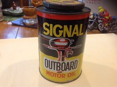 Vintage Signal Outboard Boat Motor Oil Signal Oil Company Los Angeles USA