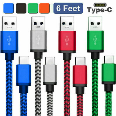 1-3M USB-C Type-C Data Sync Charger Fast Charging Cable For Huawei Samsung HTC