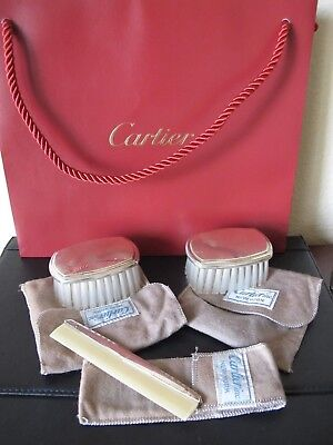 Cartier Sterling Silver 3 -Piece Baby Dresser/grooming Set