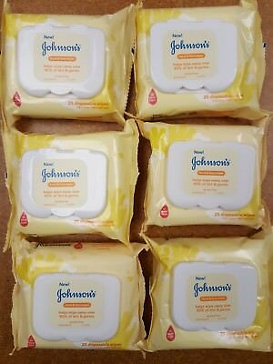 Johnson's Baby Hands & face Wipes ~ Wipes away 95% of germs & dirt. Alcohol free