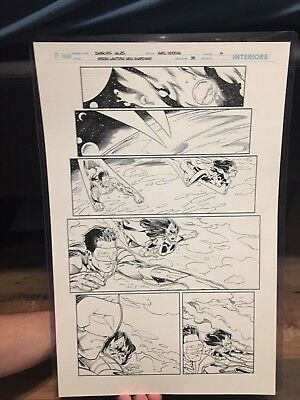 green lanten new guardians 38 pg 14 original comic art