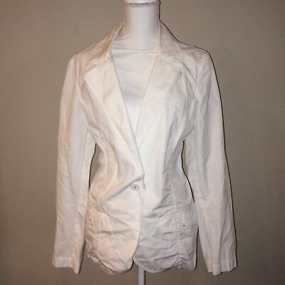 Tommy Bahama Blazer Size XL Womens White Long Sleeve Jacket Cotton