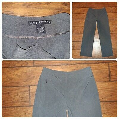 a8c3463d8bf LARRY LEVINE WOMEN S Dress Pants Stretch Gray Straight Leg Career ...