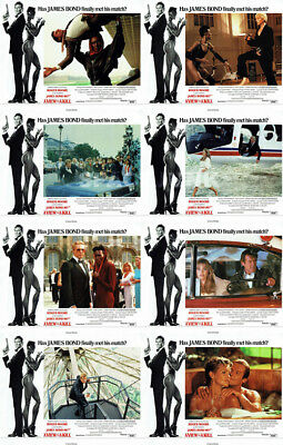 JAMES BOND 007 A VIEW TO A KILL (1985) U.S. Lobby Cards Complete Set of 8