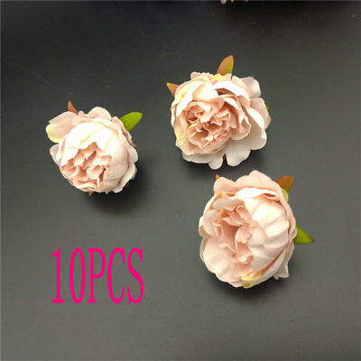 10 Pcs Artificial Peony Head Flowers Home Party Decoration Gift Craft Supplies