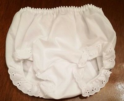 NEW ICM Double Seat Panty Eyelet Lace trim  Girl Size 4