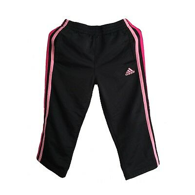 GIRLS TODDLER ADIDAS 3-STRIPE SWEATPANTS - Black/Pink 4T