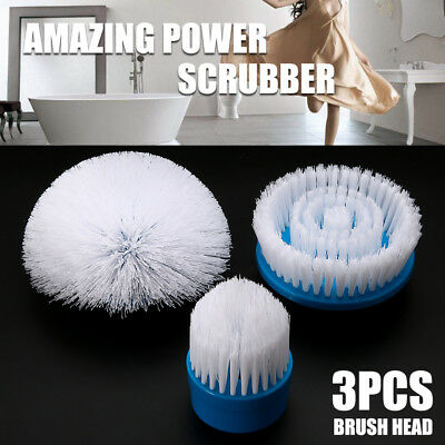 3Pcs/Set Replacement Brush Head For Turbo Scrub Spin Scrubber Rotating Power