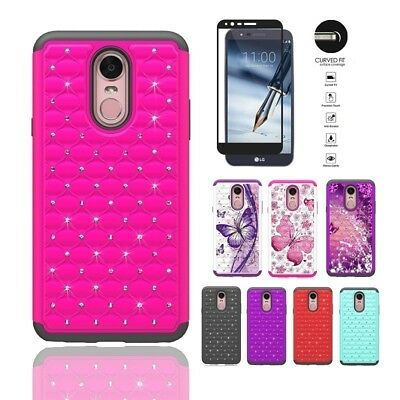 LG Stylo 4 Case, Dual Layer Crystal Cover Case for LG Stylo 4/LG Stylus 4 + TG