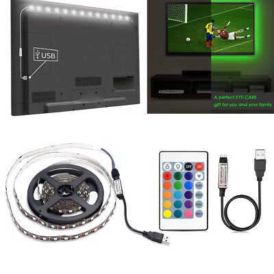 RGB LED Lighting For TV LCD HDTV USB LED Strip Background Lmap 5V+ IR Remote