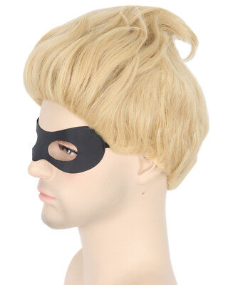 Dash Parr Wig Blonde Short Cosplay Halloween Costumes Wig for Incredibles