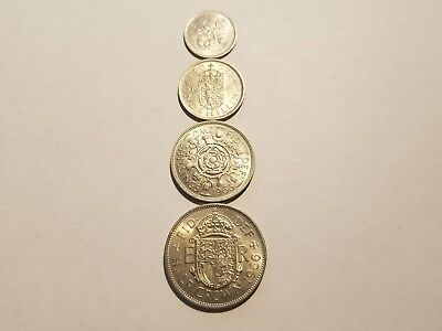 1966 England Uncirculated Blazers - 1/2 Crown, 2 Shillings, 1 Shilling & 6 Pence