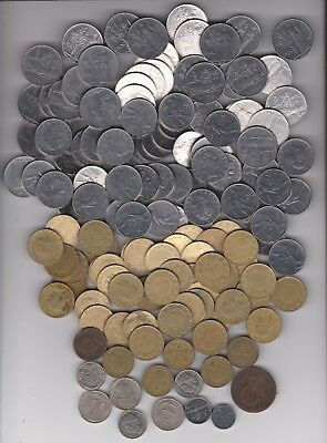 Italy - Large Demonitized Coin Lot - 150 Coins 1950s - 1990s  ** LAST LOT **