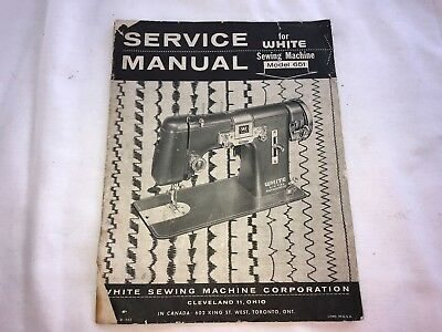 White Sewing Machine Service Manual  Model 651