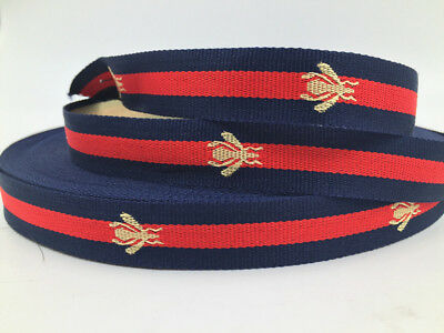 5/50Y Of 3cm Bee Stripe Strap Air Webbing blue Colours,Straps,Leads