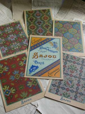 Sajou Set of 6 Post Card Tapestry Charts- Album de Tapisserie 103- All Overs