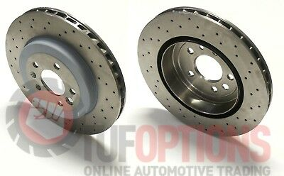 GENUINE Ford FPV BA BF FG FGX GT-P Premium REAR BREMBO 4 Piston Disc Set (2)