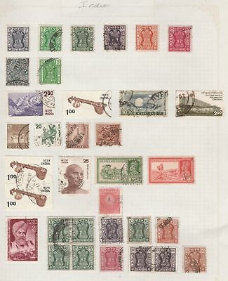 INDIA Ghandi, etc on Old Book Pages-As Per Scan-Removed to send  #