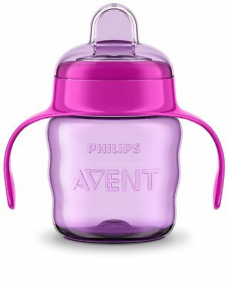 Philips Avent Easy Sip Spout Cup with Handle, 200 ml, Pink/Purple - SCF551/13