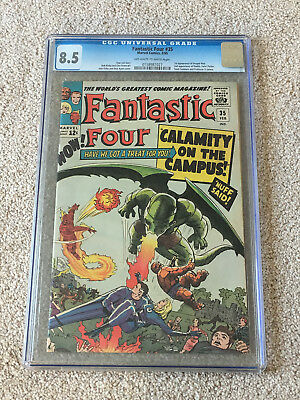 Fantastic Four 35 CGC 8.5 OW-W Pages 1st Dragon Man