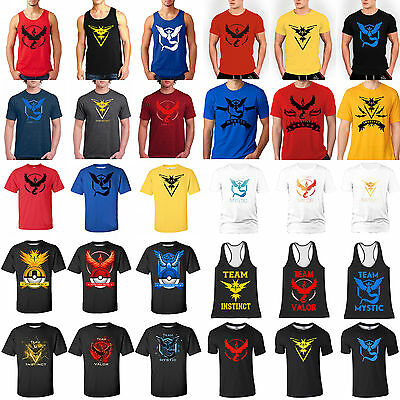 Pokemon GO T-shirt Hoodie Graphic Tee Baseball Tank Vest Sportswear Cartoon Tops