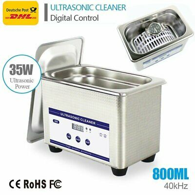 800ml Digital Ultrasonic Cleaner Ultra Sonic Bath Cleaning Tank Timer Free Post