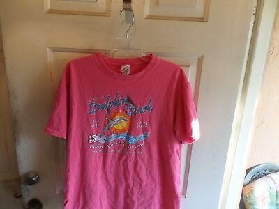 Women's Anvil Pink Tee Shirt Size L Dolphin Dash