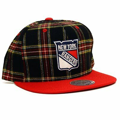 ee5c46bfb2e0ee NHL Mitchell & Ness Vintage Plaid Snapback Hat (New York Rangers)