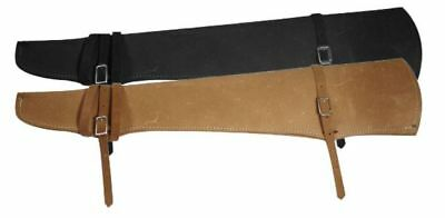 """GUN SCABBARD 31"""" Rough Out Leather Made in USA Fits Saddle Motorcycle ATV Bike"""