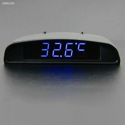 D45C663 12V 3 In 1 Car Auto Digital Clock Thermometer Battery Volt Monitor Meter
