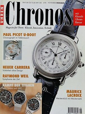 7163) Maurice Lacroix Paul Picot U-BOOT Heuer Carrera in Uhren Magazin 1996