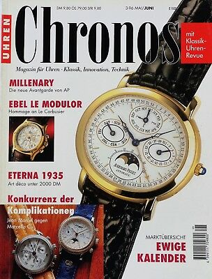 7166) Ebel Le Modulor Millenary AP Eterna 1935 Marcello C. in Uhren Magazin 1996