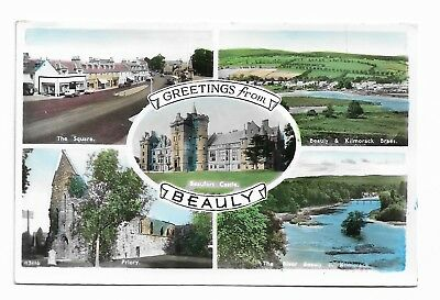GREETING FROM BEAULY Inverness-shire Scotland  Vintage Real Photo Postcard 381G