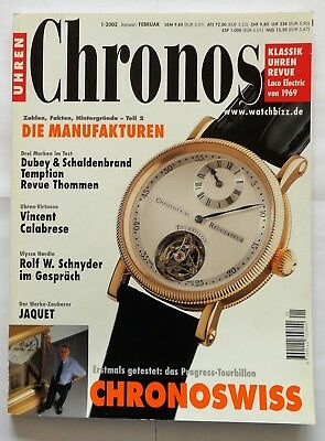 7194) Chronoswiss Tourbillon in Uhren Magazin 2002 inkl. Uhrenmarkt 1000 Modelle