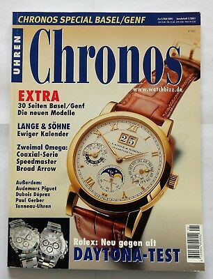 7197) Lange Söhne Omega Coaxial Speedmaster Broad Arrow in Uhren Magazin 2001