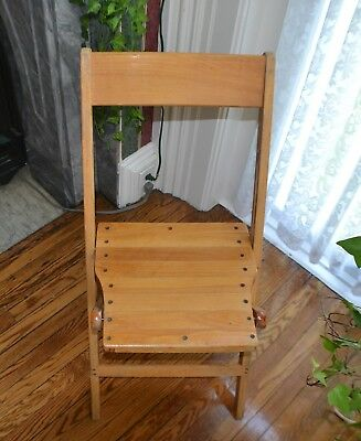 Vintage Snyder Antique Wood Oak Wooden Folding Chairs $29 each, 41 available